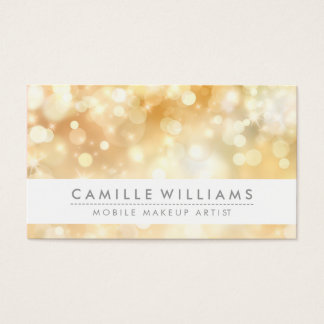 ELEGANT SPARKLY LIGHT whimsical golden bokeh Business Card