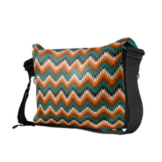 elegant spikes, ethnic style courier bag