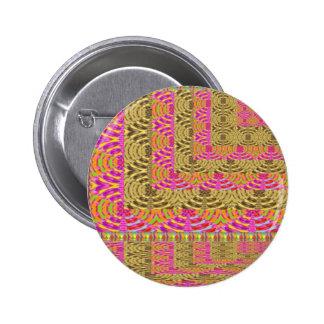 ELEGANT Spiral Diamond Waves in Layers 2 Inch Round Button