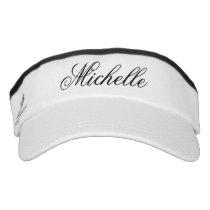 Elegant sport sun visor cap hat with custom name