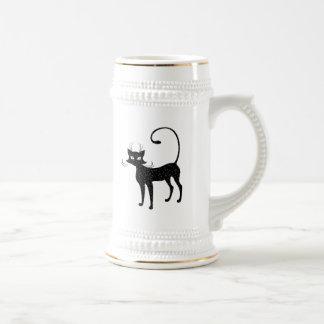 Elegant Spotted Black Cat 18 Oz Beer Stein