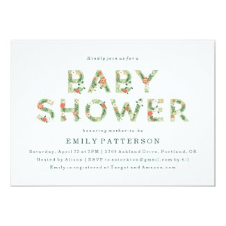 Elegant Spring Floral | Baby Shower Invitation