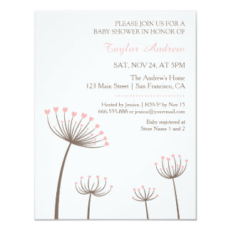 Elegant Spring Floral Baby Shower Invitations