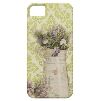 elegant spring wildflower mint green damask iPhone 5 covers