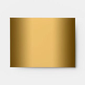 Elegant Square Black Gold Linen RSVP Envelopes