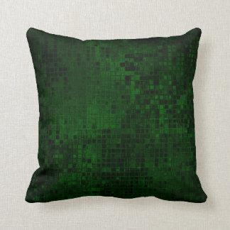 Elegant Square Pattern Dark Green Pillow