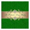Elegant St. Patrick's Day Party Invitation Green