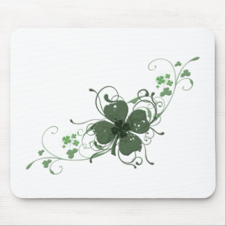 Elegant St. Patrick's Day Shamrock Design Art Mouse Pad
