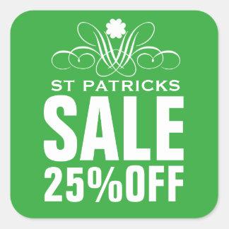 Elegant St Patrick's Sale Sticker