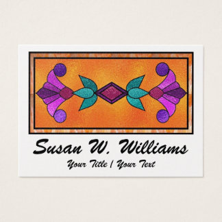 Elegant Stained Glass Business Card