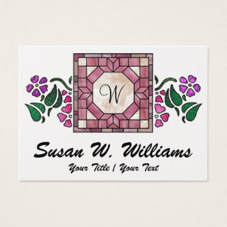 Elegant Stained Glass - SRF Business Card