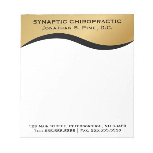 Elegant Standard Chiropractor Chiropractic Notepad
