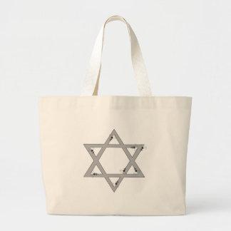 elegant star of david tote bag