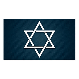 elegant star of david business card templates