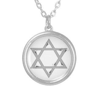 elegant star of david round pendant necklace