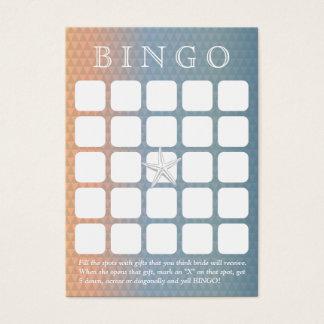 Elegant Starfish 5x5 Bridal Shower Bingo Card