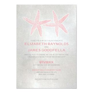 Elegant Starfish Beach Wedding Invitations Custom Announcements