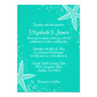 Elegant Starfish Wedding Invitations