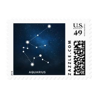 ELEGANT STARRY BLUE WATERCOLOR - Aquarius Postage
