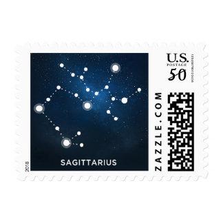 ELEGANT STARRY BLUE WATERCOLOR - Sagittarius Postage