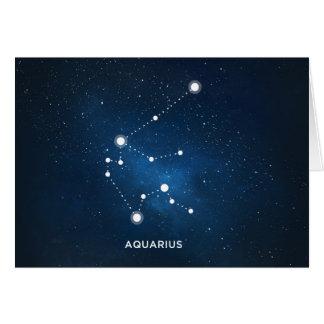 ELEGANT STARRY BLUE WATERCOLOR UNIVERSE - AQUARIUS CARD