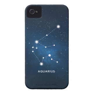 ELEGANT STARRY BLUE WATERCOLOR UNIVERSE - AQUARIUS iPhone 4 Case-Mate CASE