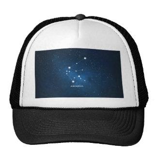ELEGANT STARRY BLUE WATERCOLOR UNIVERSE - AQUARIUS TRUCKER HAT