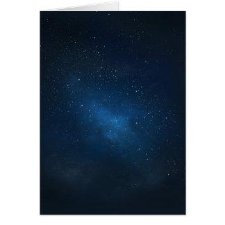 ELEGANT STARRY BLUE WATERCOLOR UNIVERSE CARD