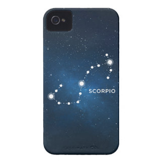 ELEGANT STARRY BLUE WATERCOLOR UNIVERSE - SCORPIO iPhone 4 Case-Mate CASE