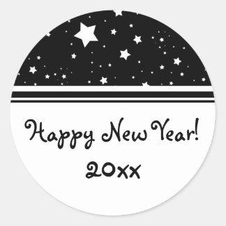 Elegant Stars Happy New Year Stickers