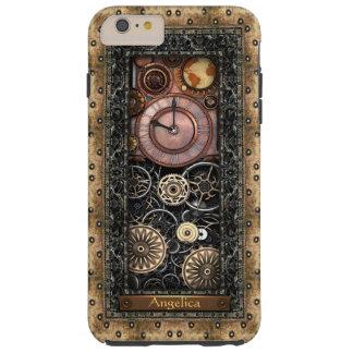 Elegant Steampunk Customizable Tough iPhone 6 Plus Case