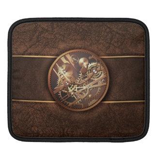 elegant steampunk gears gold brown iPad sleeve