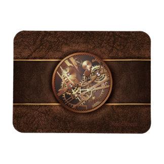 elegant steampunk gears gold brown vinyl magnets