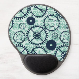 Elegant Steampunk watch gear and damask pattern Gel Mouse Pad