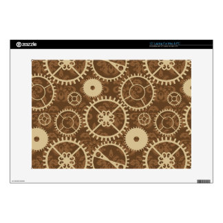 "Elegant Steampunk watch gear and damask pattern Skins For 15"" Laptops"