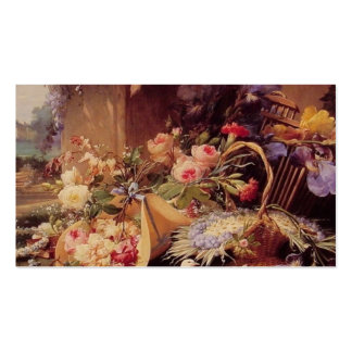 Elegant Still Life with Flowers Double-Sided Standard Business Cards (Pack Of 100)