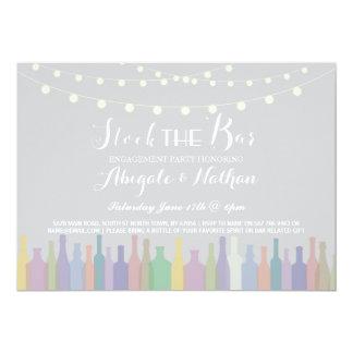 Elegant Stock The Bar Engagement Invitation