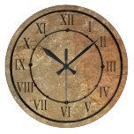 Elegant Stone Look Wall Clock