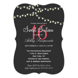 Elegant Strands of Lights Card