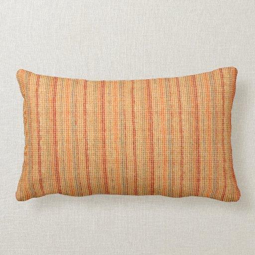 Elegant Striped linen texture Throw Pillows Zazzle
