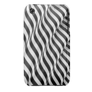 Elegant Striped Ripple iPhone 3 Cover