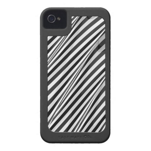 Elegant Striped Ripple with surround iPhone 4 Case-Mate Case