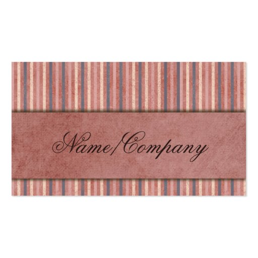Elegant Stripes Business Card