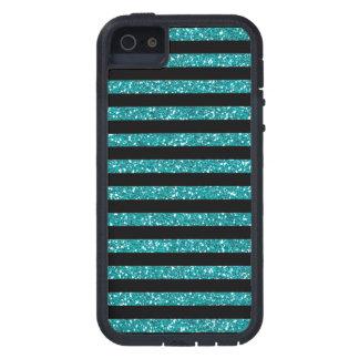 Elegant Stripes on Black Decor iPhone SE/5/5s Case