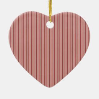 Elegant Stripes Pink Ceramic Ornament
