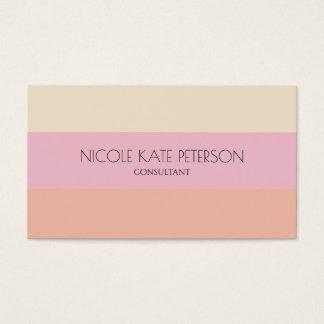 Elegant Stripes Warm Pastel Colors Consultant Business Card