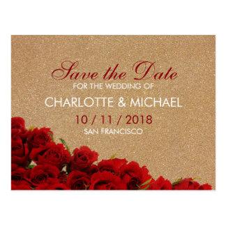 Elegant style red roses postcard