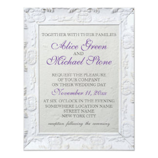 Elegant style wedding invitation