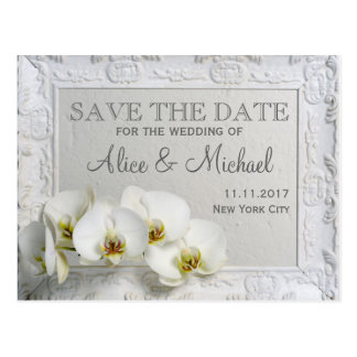 Elegant style wedding Save the date Postcard