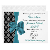 elegant stylish aqua Corporate party Invitation